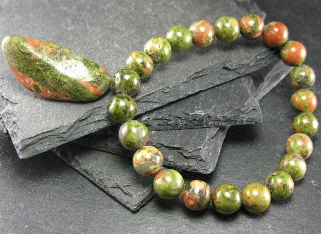 Unakite 8mm Bracelet. Reduced by $4 for the Sweater Weather Promotion