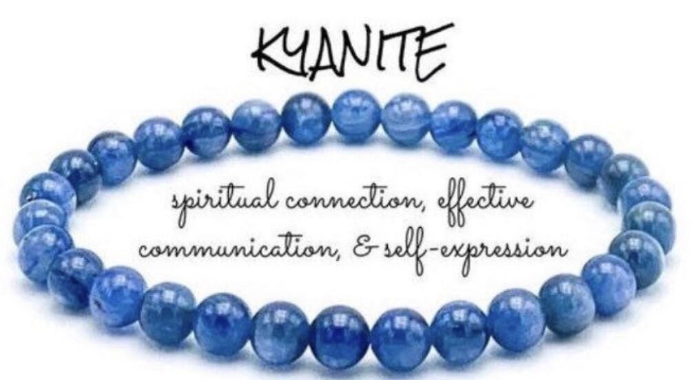 Kyanite 6-8mm Bead Bracelet.