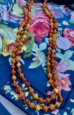 Orange Agate Long Necklace