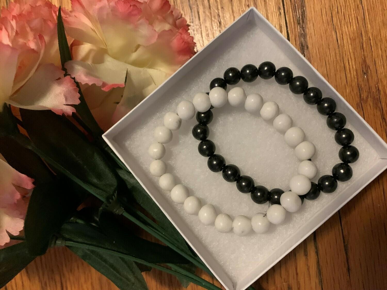 Shungite and Kalarien Marble Harmonizers Bracelets - FREE Shipping! Save $5 on the set rom $80 to $75