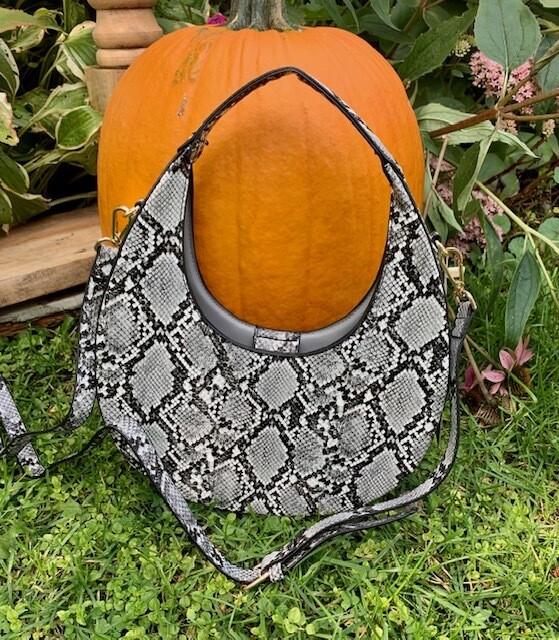 Black & Gray Snakeskin Style Purses