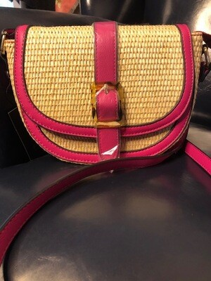 Natural Color w/Pink Trim Cross-body. Save $10 from $39 to $29