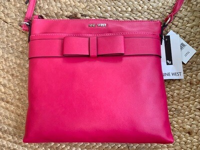 Nine West Bright Pink Cross-body w/Bow. Save $40. Now $49