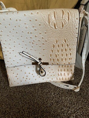 Exotic Print Cream Colored w/Cross-body Strap