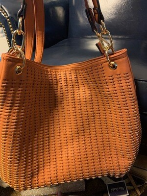 Malibu Skye Collection - Cinnamon Colored Zodiac Lined Tote w/Shoulder Strap