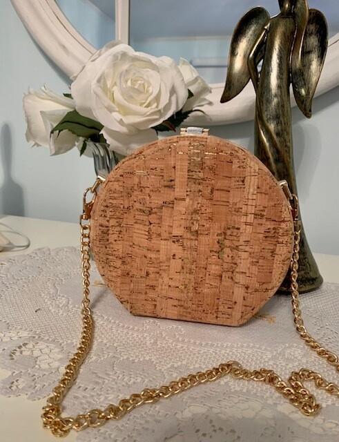 Cork Pillow Box Shoulder Bag
