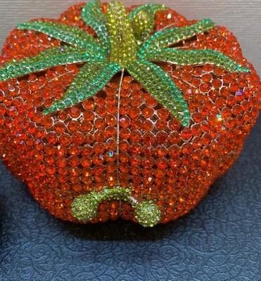 Rhinestone Pumpkin Purse