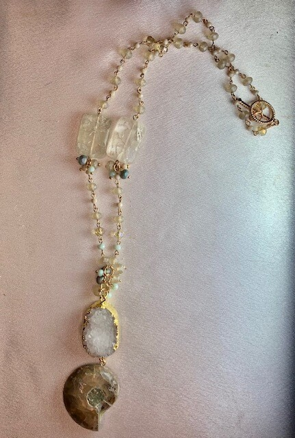 Fossil & Gemstone Necklace