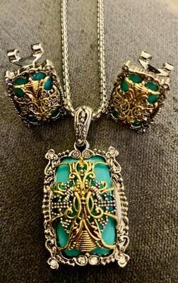 Jewelry Set - Long Chain & Matching Earrings