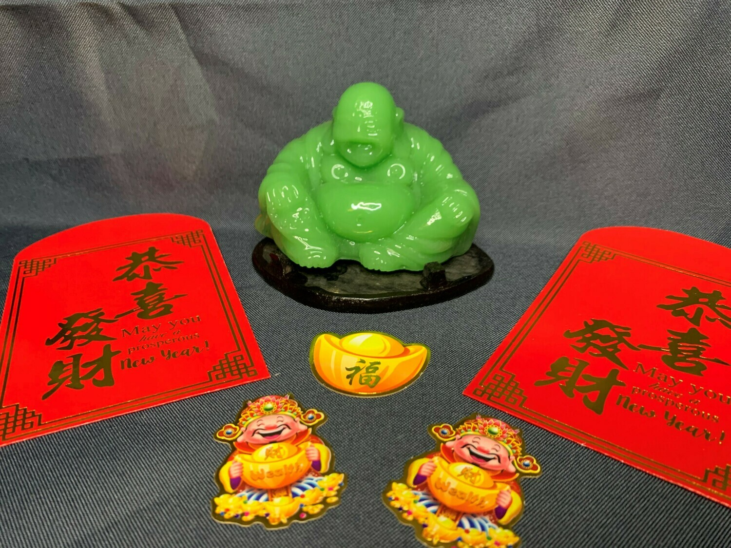 Green Buddha for Luck and Happiness