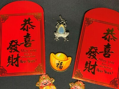 Add-On: Opalite Lucky Frog Pendant