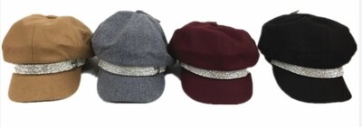 Hip Rhinestone Accent Hat
