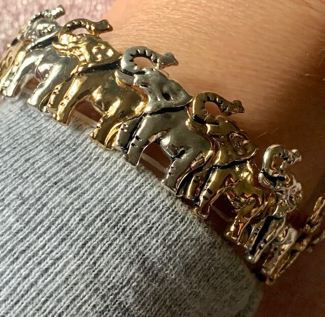 Gold & Silver-tone Elephant Bracelets. Save $5 from $30 to $24.99