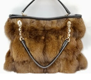 Genuine Mink Purse