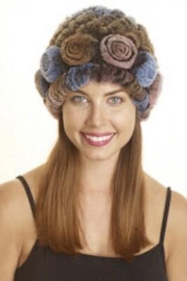 Rex Rabbit Roses Fur Hats.