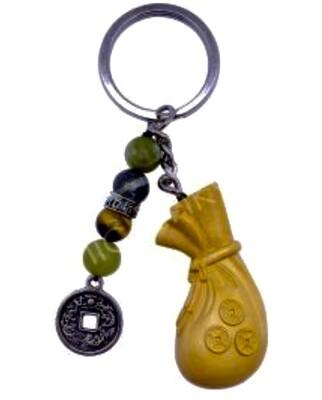 Money Bag Prosperity Keychain
