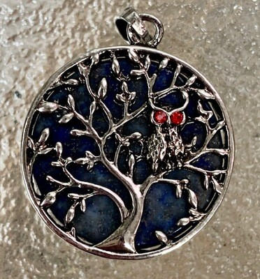 Lapis Tree of Life Pendant