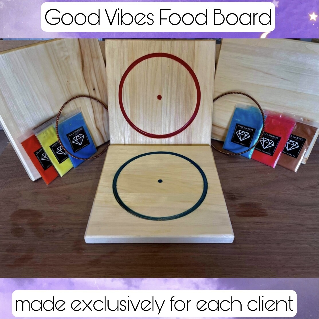 Good Vibes Frequency Food Board