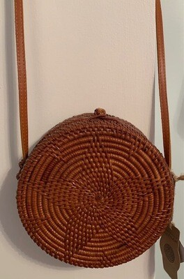 The Divine Guidance and Protection Bag - Genuine Leather & Wicker