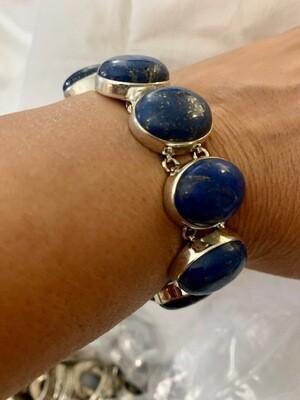 Lapis Bracelet in Sterling