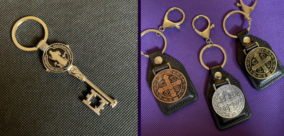 St Benedict Keychains - September Special!! Buy 3 get free shipping!