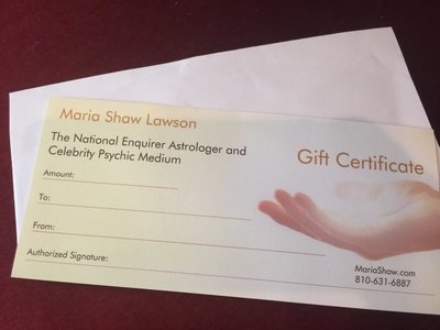 Maria Shaw's Gift Cards