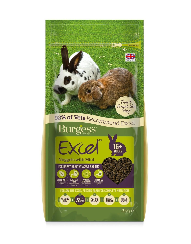 Burgess Excel Rabbit Pellets with Mint 2kg
