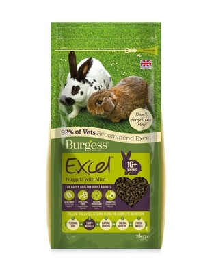 Burgess Excel Rabbit Pellets with Mint 4kg