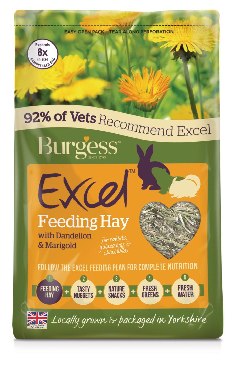 Burgess Excel Timothy Hay Dandelion and Marigold Herbage 1kg