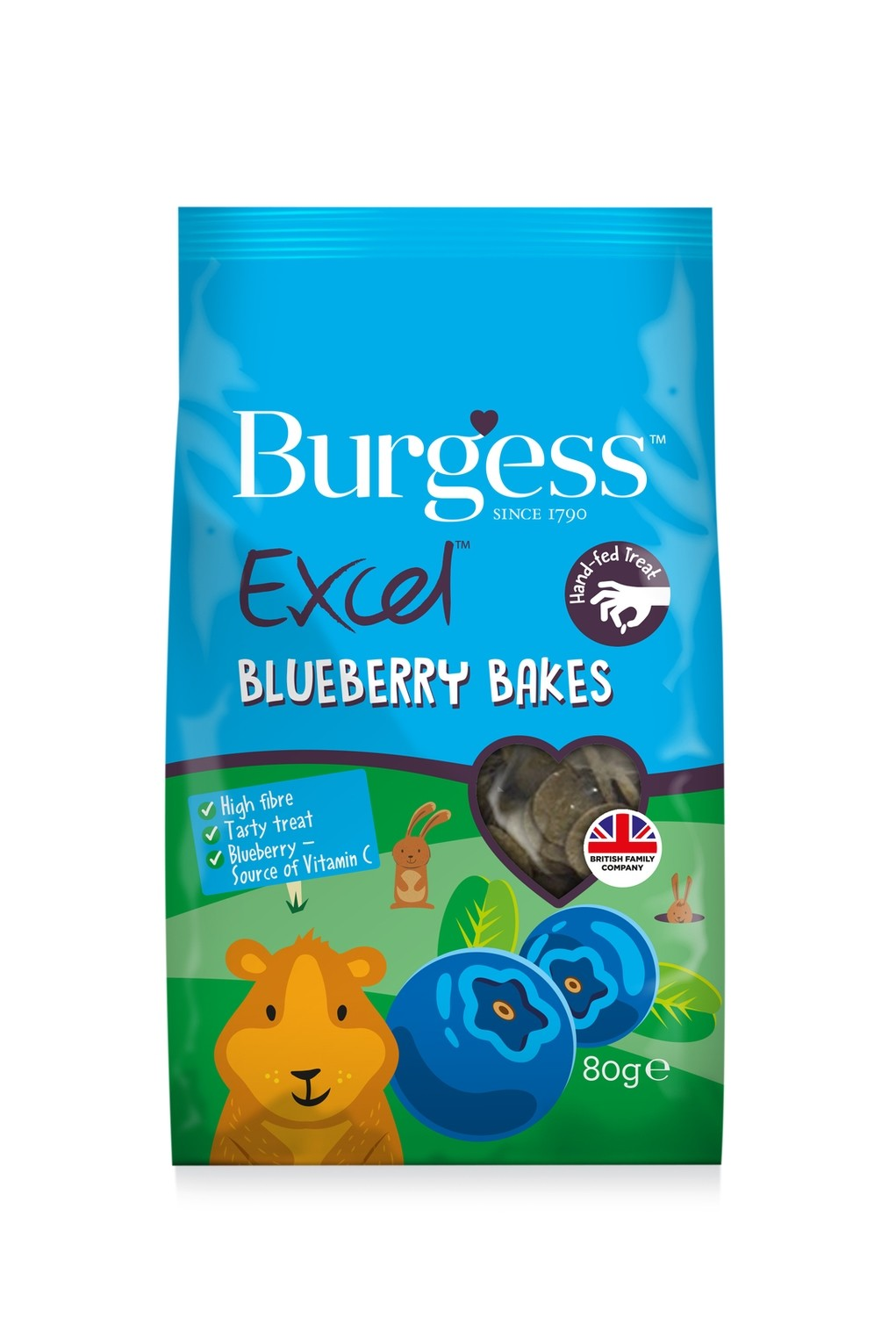 Burgess Excel Blueberry Bakes 80g (coming 18/12)