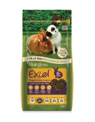 Burgess Excel Rabbit Pellets with Oregano 2kg