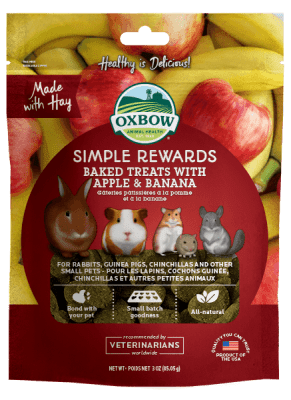 Oxbow Simple Rewards Baked Treats 85g - Apple & Banana
