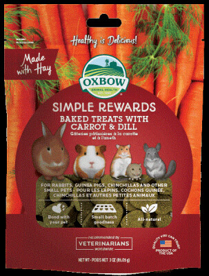Oxbow Simple Rewards Baked Treats 85g - Carrot & Dill