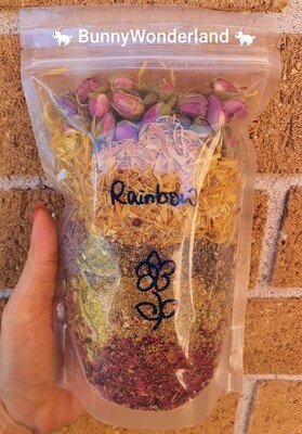 Rainbow Floral Mix Hay/Pellet Toppers 50g