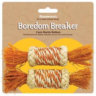 Rosewood Boredom Breaker Corn Rattle Rollers