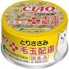 CIAO Chicken Hairball Care Can Food 85g
