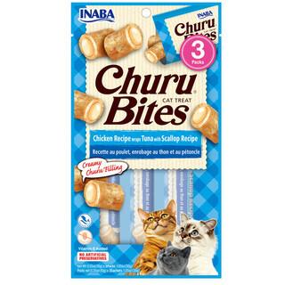 Cat Treat/Snack INABA-CIAO Churu Bites Chicken Recipe wraps Tuna with Scallop