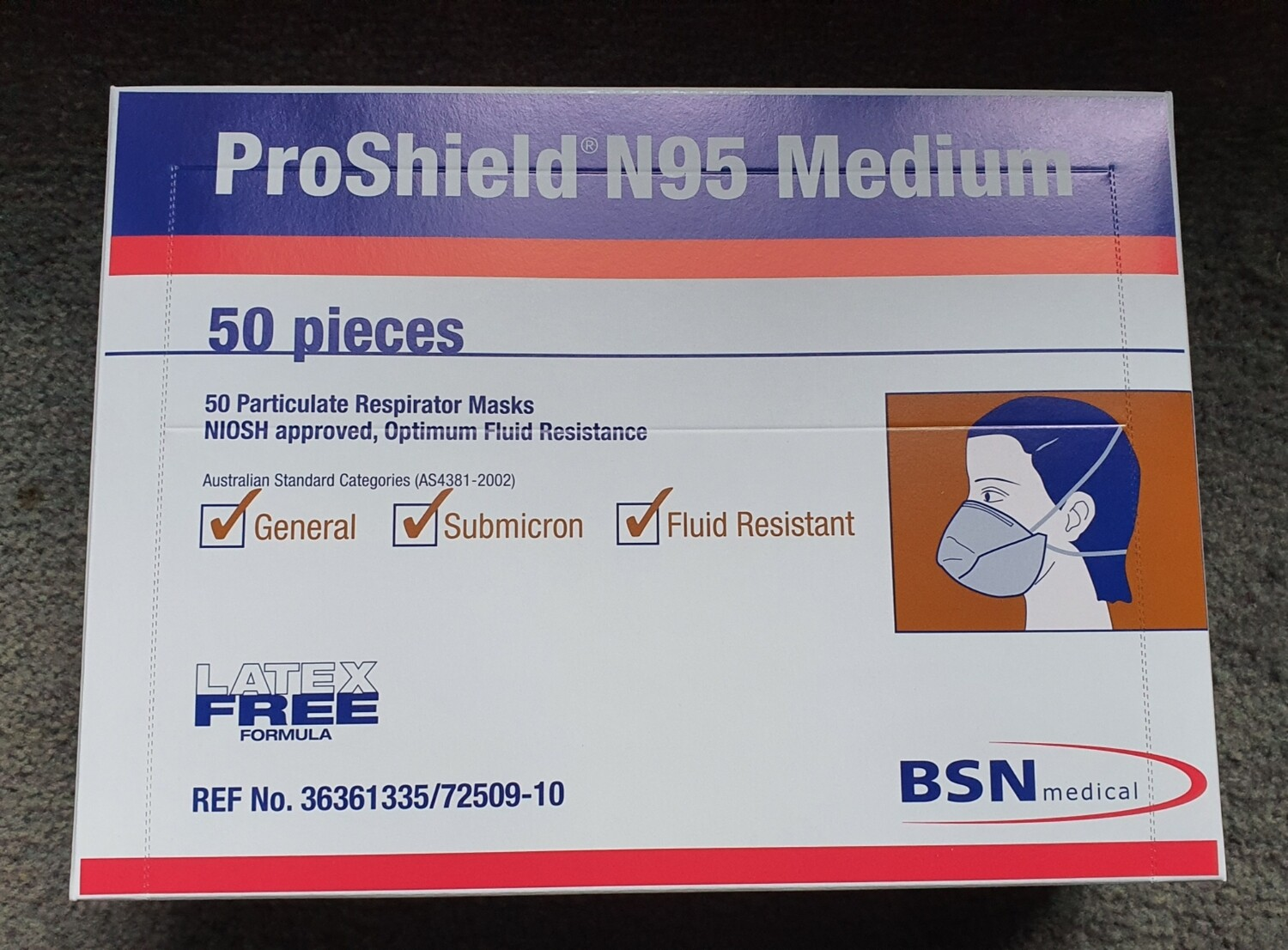 Proshield N95 Medium size mask 50pcs