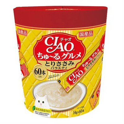 Ciao- Chicken Dried Bonito Flakes, Scallop (60pcs/pk) imported from JAPAN