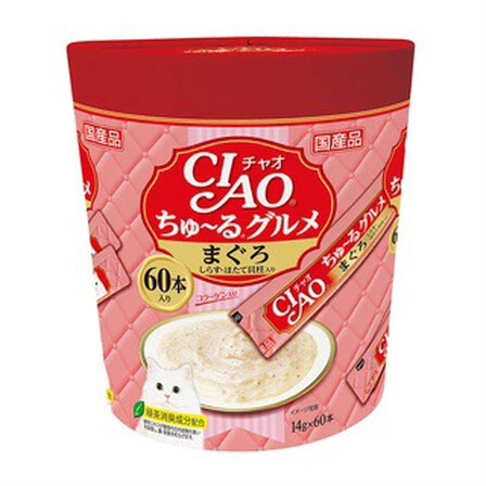 Ciao- Tuna,Baby Sardine, Scallop (60pcs/pk) imported from JAPAN