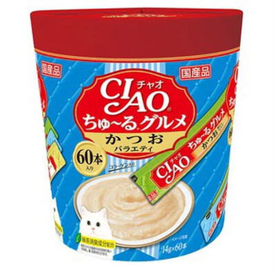 Ciao- Churu Bonito, Dried Bonito Flakes (60pcs/pk) imported from JAPAN