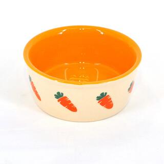 Ceramic Orange Carrot Bowl 12.5cm