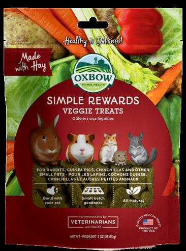 Oxbow Simple Rewards Baked Treats 85g - Veggie