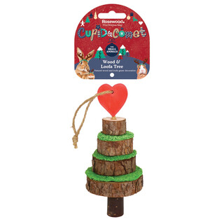 Rosewood Xmas Wood & Loofa Tree