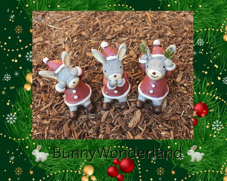 Xmas Bunny Decoration set