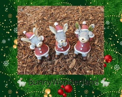 Xmas Bunny Decoration set