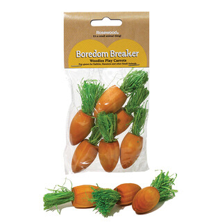 Rosewood Woodies Play Carrots Pack of 6
