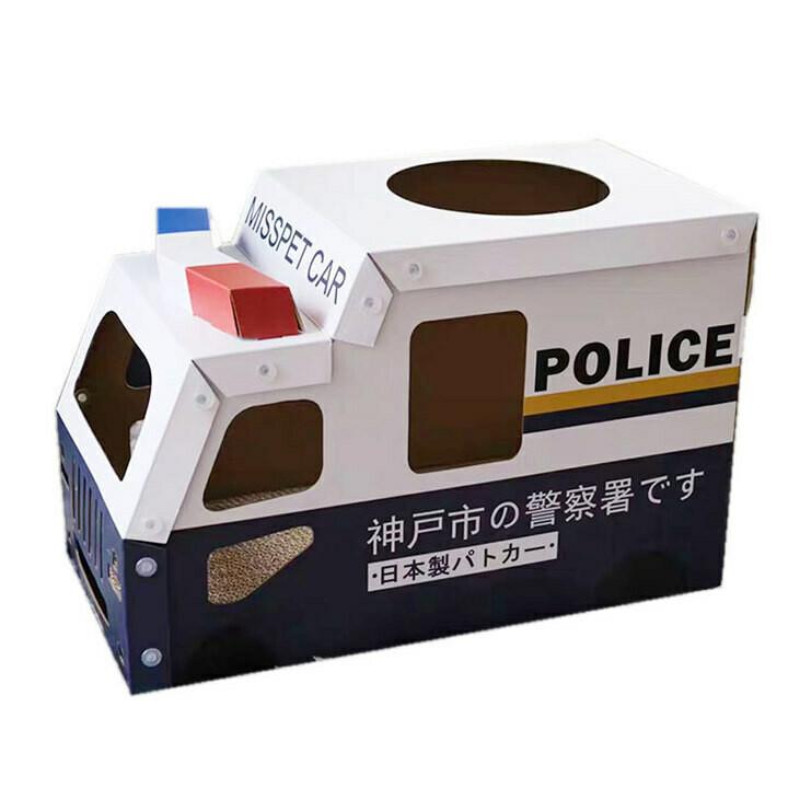 Police Car Shape Scratch Board House