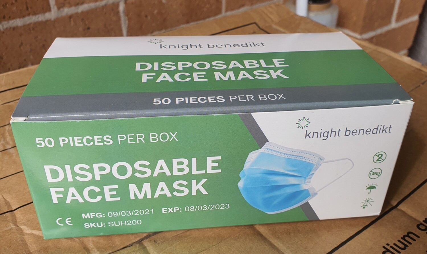 Disposable Face Mask (50pc)