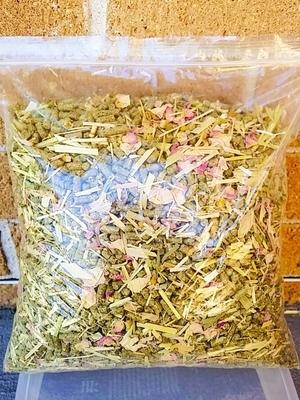 Floral Pellet Blend 1kg (Roses, Chamomile, Lavender)